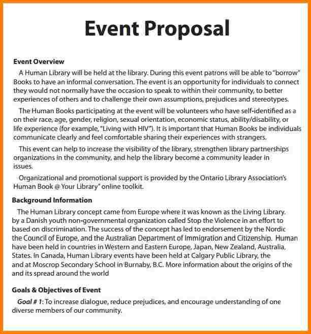 Charity Proposal Sample School Charity Proposal Template, Charity - event proposal template