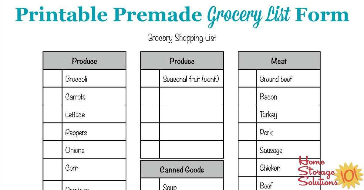 ... Christmas Dinner Shopping List Template Christmas Shopping Gift   Grocery  List Form ...  Christmas Dinner Shopping List Template