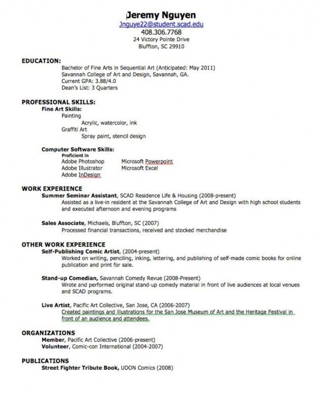 Resume For First Job Template Job Resume Template Free Free - resume with work experience