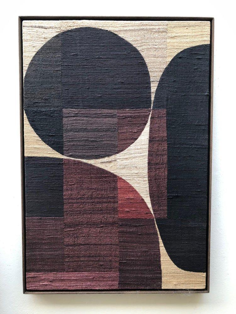 khadi silk collage (small red) / X+L