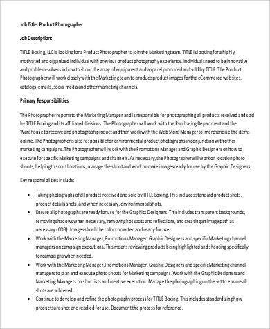 Forensic Photographer Job Description Photographer Free Resume - photographer job description