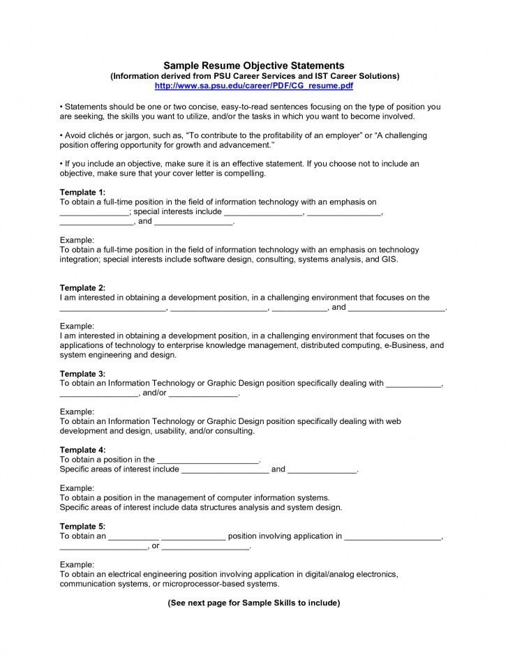Example Resume Profile Statement - Examples Of Resumes