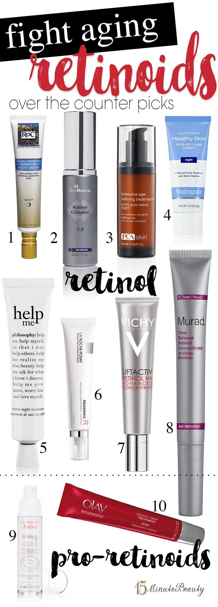 Retinol and retinoids are the best ingredient to reverse wrinkles and other signs of premature aging. Here's a look at the best over the counter products!