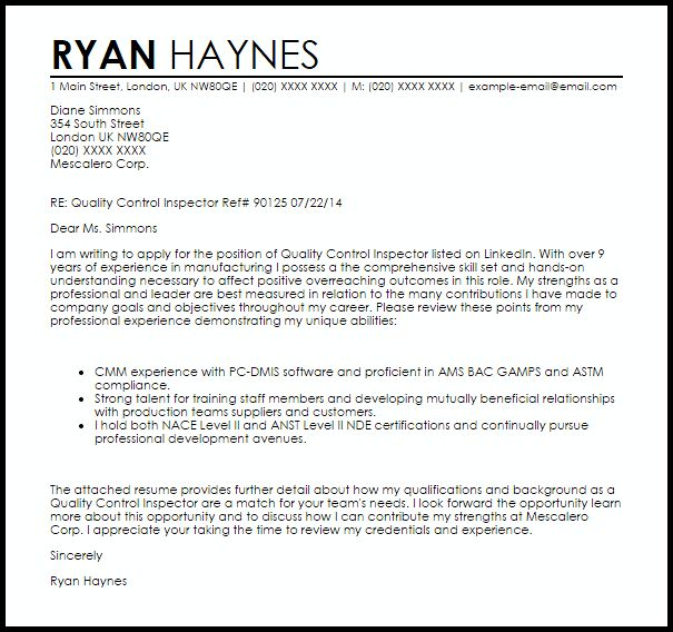 Railroad Inspector Cover Letter] Railroad Inspector Cover Letter ...