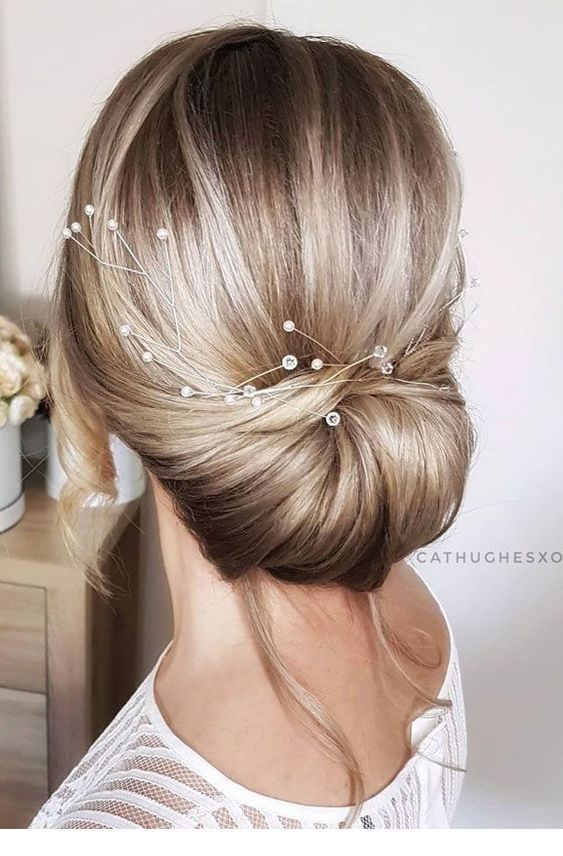 Simple updo with some nice hair accessories