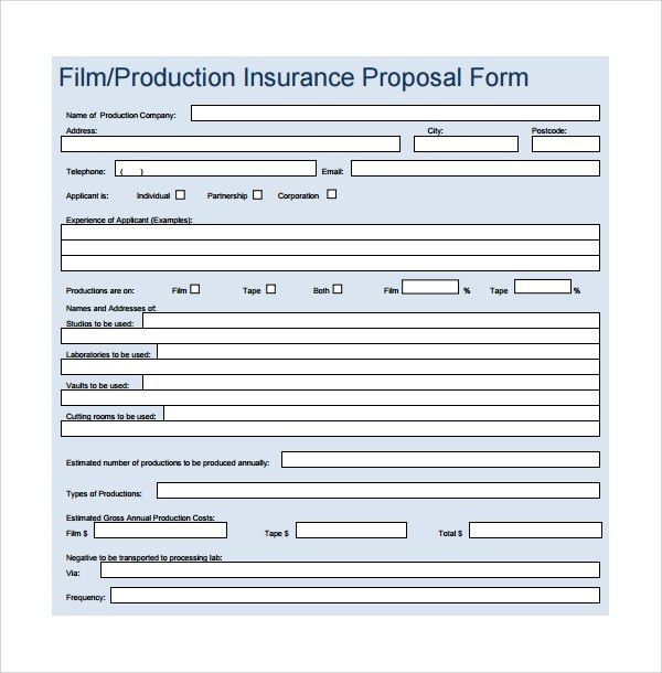 Proposal Form Template 5 Proposal Form Templates Formats Examples - estimate proposal template