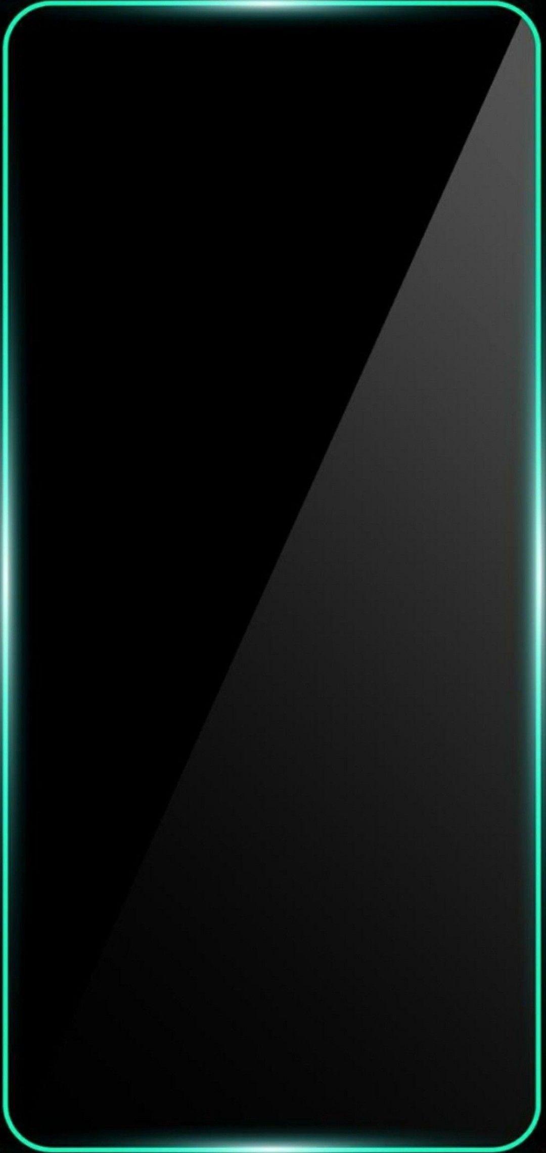Green And Black Border Line 1080x2280 Galaxy Phone Wallpaper Backgrounds Phone Wallpapers Black Wallpaper