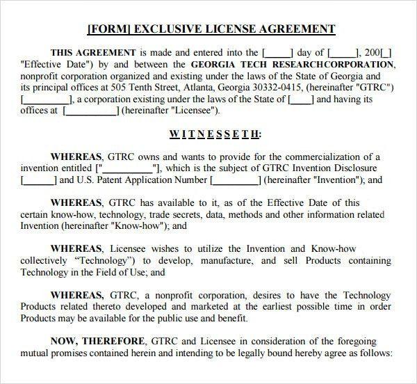 Trade Agreement Sample Mexico Nicaragua Free Trade Agreement - sample licensing agreement