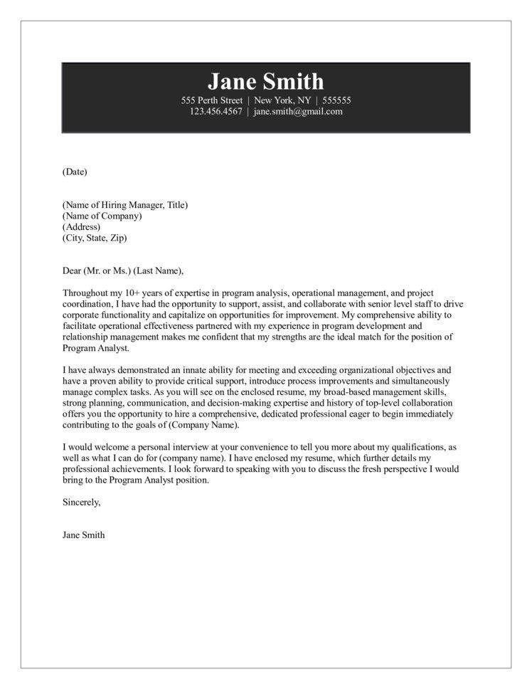 Campaign analyst cover letter