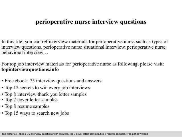 Perioperative Nurse Sample Resume] Unforgettable ...