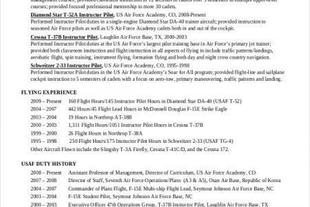 Sample Airline Pilot Resume Professional Pilot Resume Template - pilot resume template