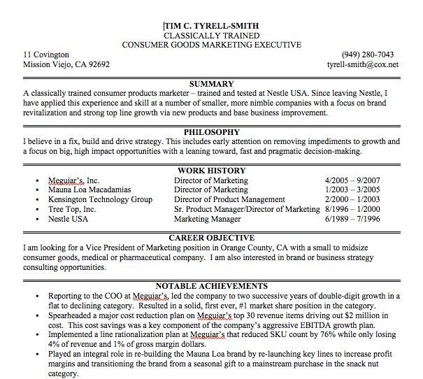 Example Resume Summary Statements Resume Summary Statements Image