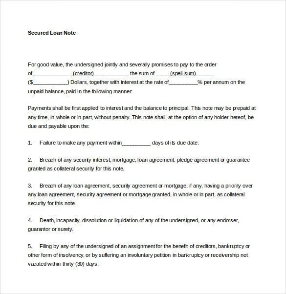 Loan Agreement Format 5 Loan Agreement Templates To Write Perfect - sample security agreement
