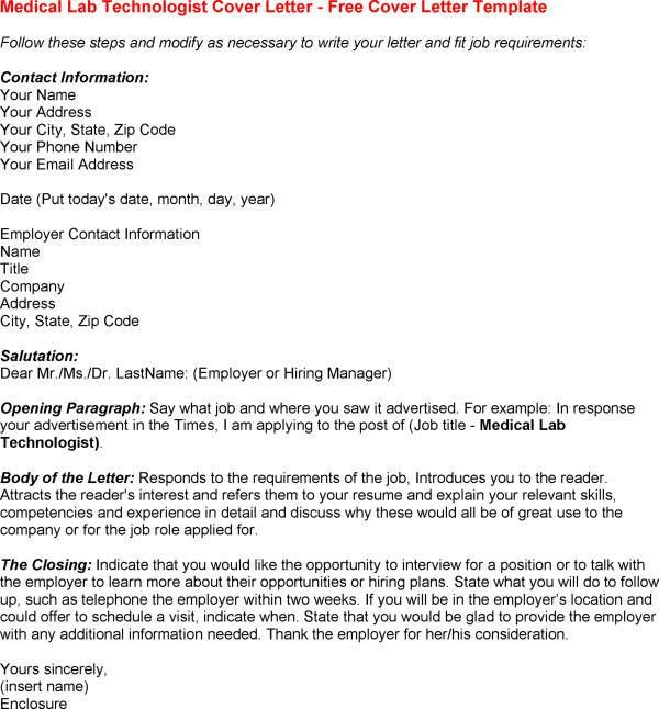 ... Medical Laboratory Technician Cover Letter Medical Lab Technician   Budget  Technician Cover Letter ...