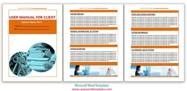 User Manual Template Word User Manual Template Microsoft Word - software manual template