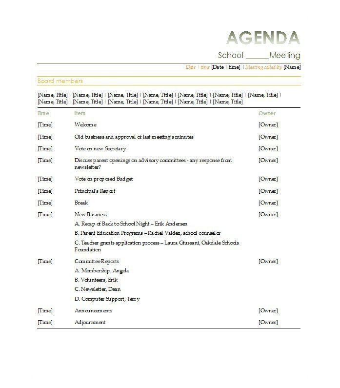 Template Agenda Agendas Officecom, 46 Effective Meeting Agenda - example of agenda of meeting