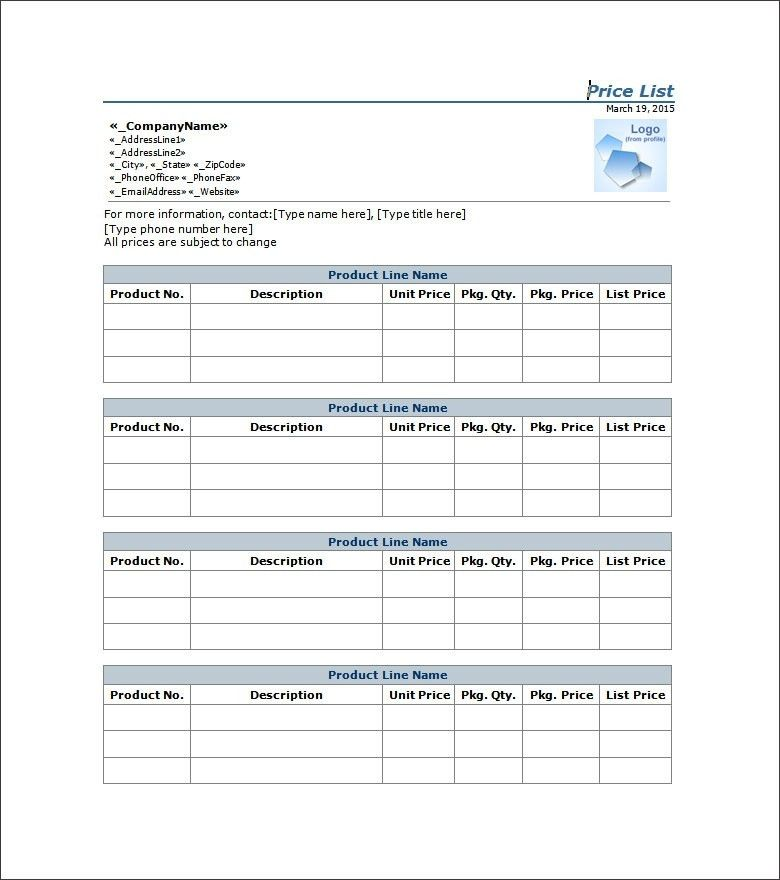 email contact list template