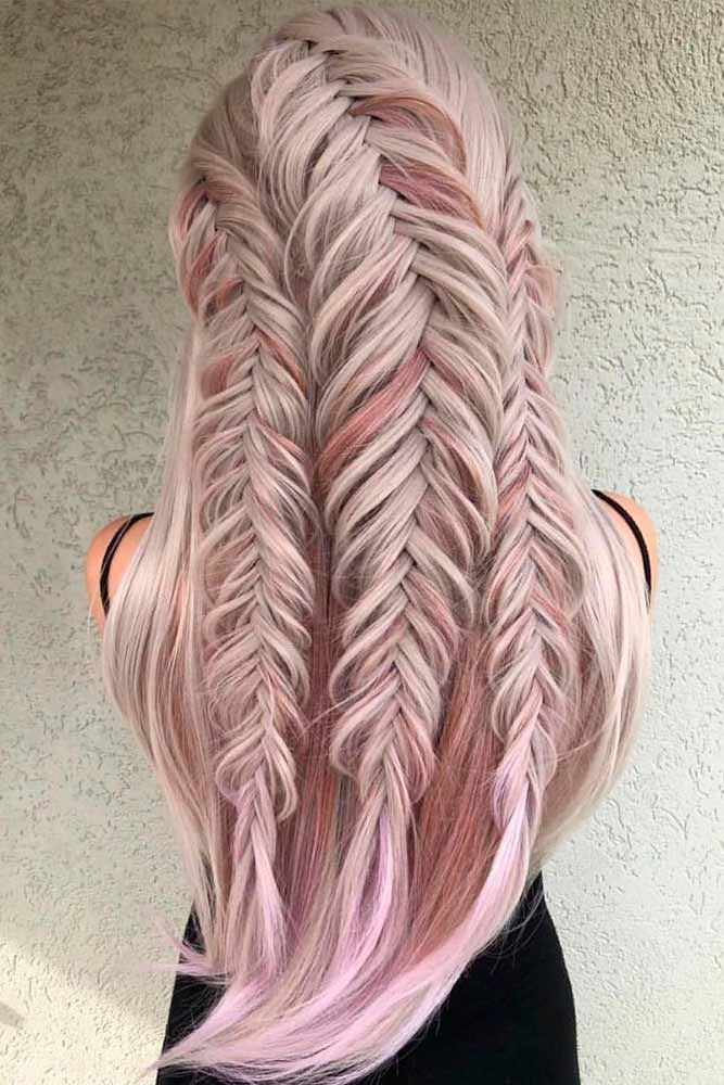 Trible Braids Half-Up #braidedhairstyles #longhairstyles ★ Are you looking for cute hairstyles that are trendy, as well? We have gathered the loveliest hairstyles that are ideal to wear on a first date. #glaminati #lifestyle #cutehairstyles