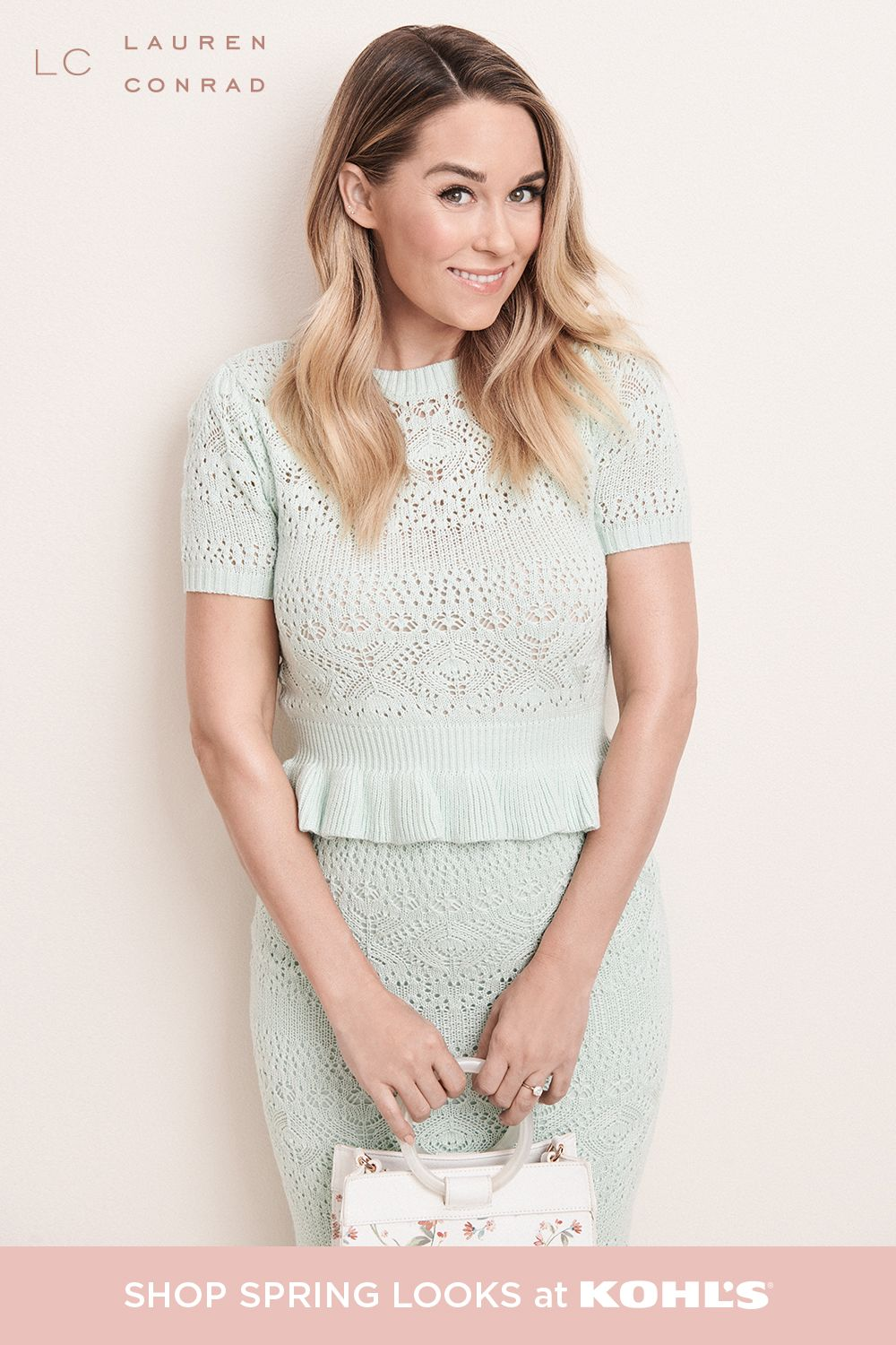 Pretty pastels are so in this season and we're definitely here for it. Bring on spring with a must-have set in the cutest mint hue. Pair it with a floral purse for the perfect finishing touch. Find matching sets, dresses, tops, jeans, bags and more from LC Lauren Conrad at Kohl's and Kohls.com. #springstyle #laurenconrad