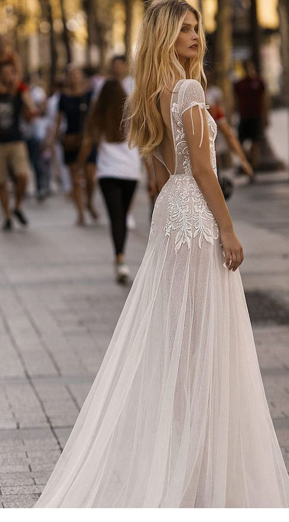 Amazing and special wedding dress with some lace
