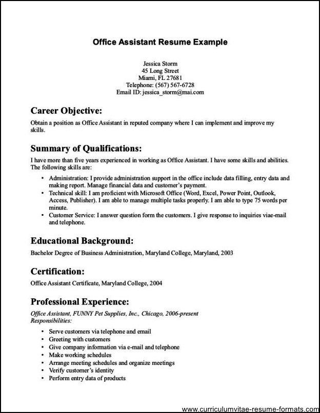 Sample Office Assistant Resume Best Administrative Assistant - examples of office assistant resumes