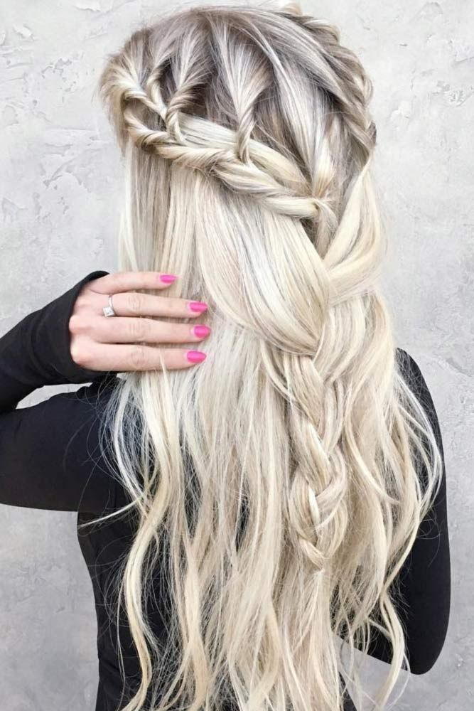 """Half up half down prom hairstyles are really trendy this season. Check out our photo gallery of the most fabulous hairstyles to get inspired.<p><a href=""""http://www.homeinteriordesign.org/2018/02/short-guide-to-interior-decoration.html"""">Short guide to interior decoration</a></p>"""