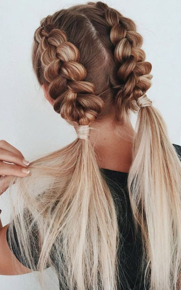 Braided Hairstyle Pigtail Braids