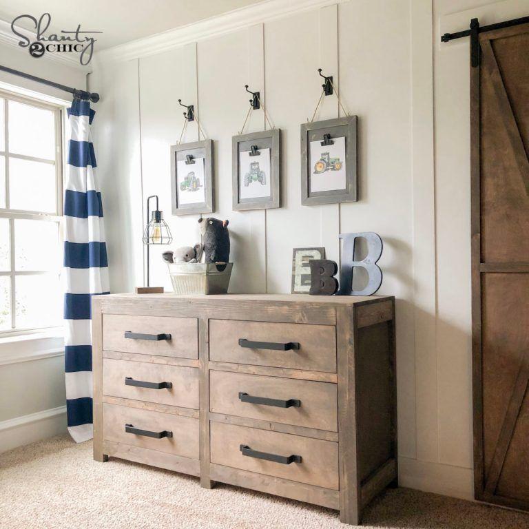 DIY Modern Farmhouse 6 Drawer Dresser - Shanty 2 Chic