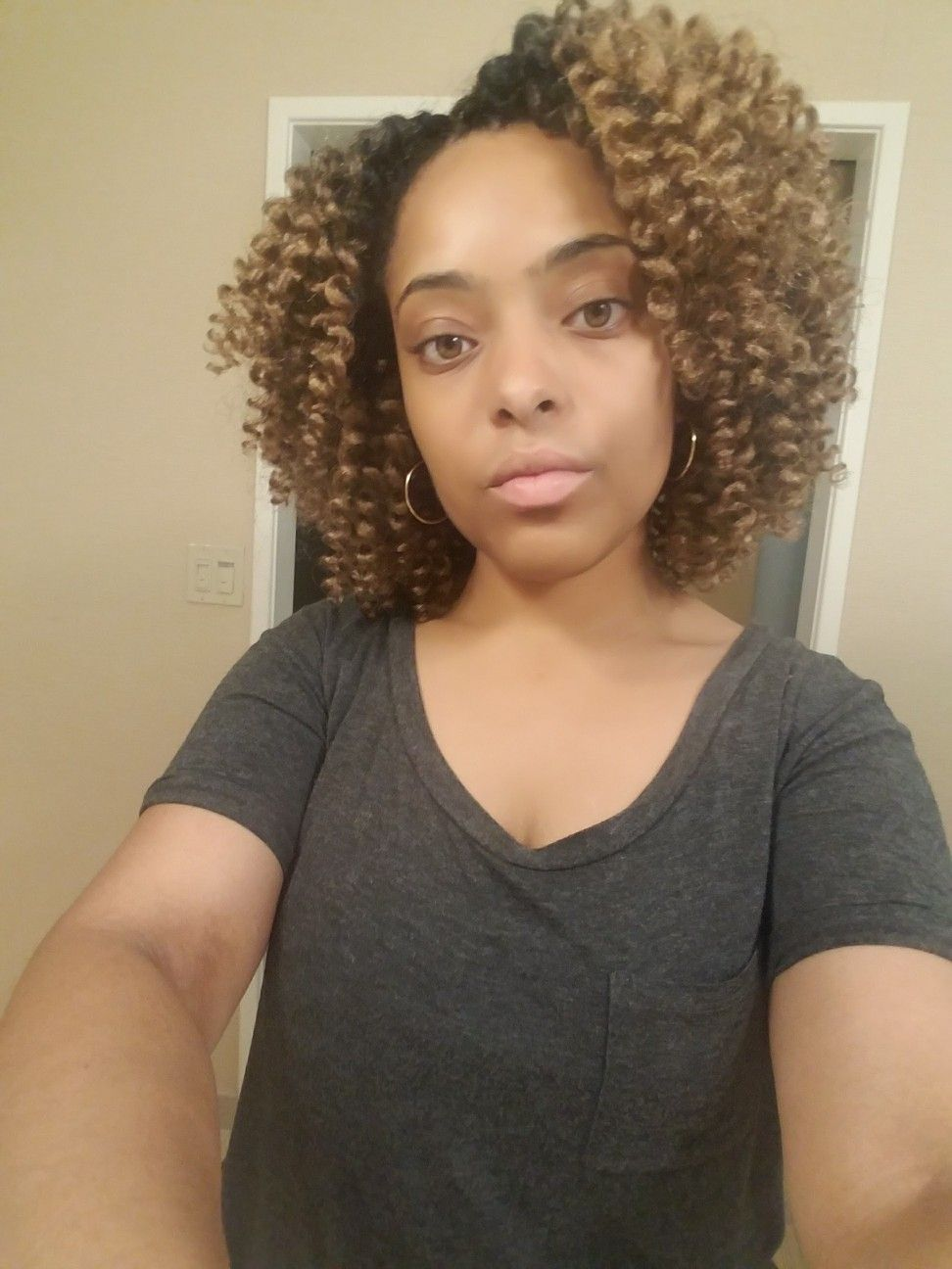Protective style Crochet Braids! A natural soft curl look