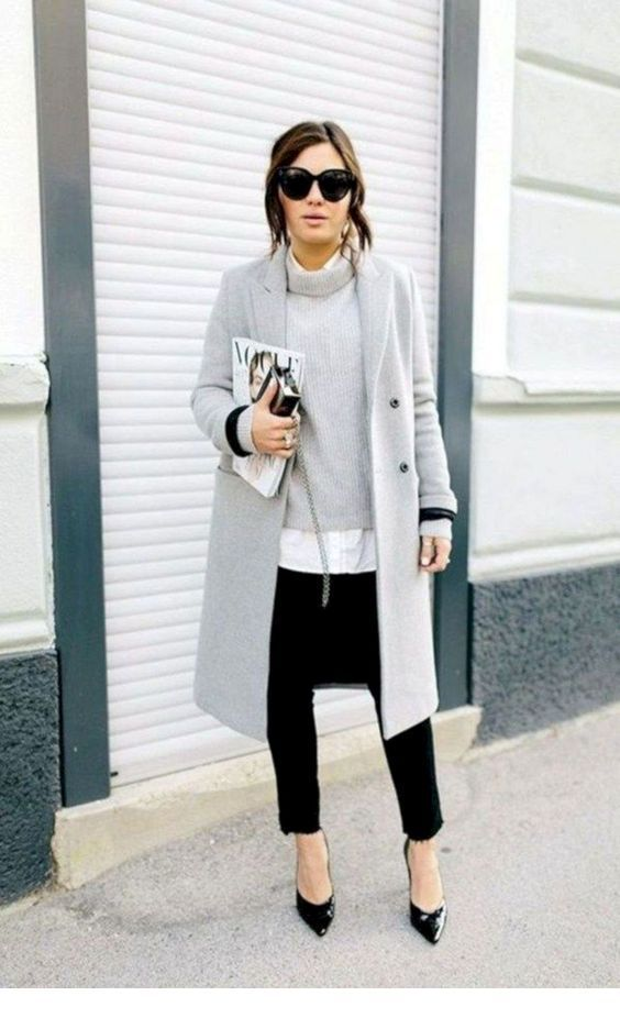 Cool black and grey street style oversize style