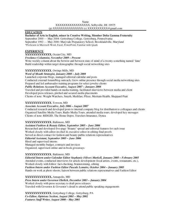 how to write a fashion resume fashion designer resume example - Fashion Pr Assistant Sample Resume