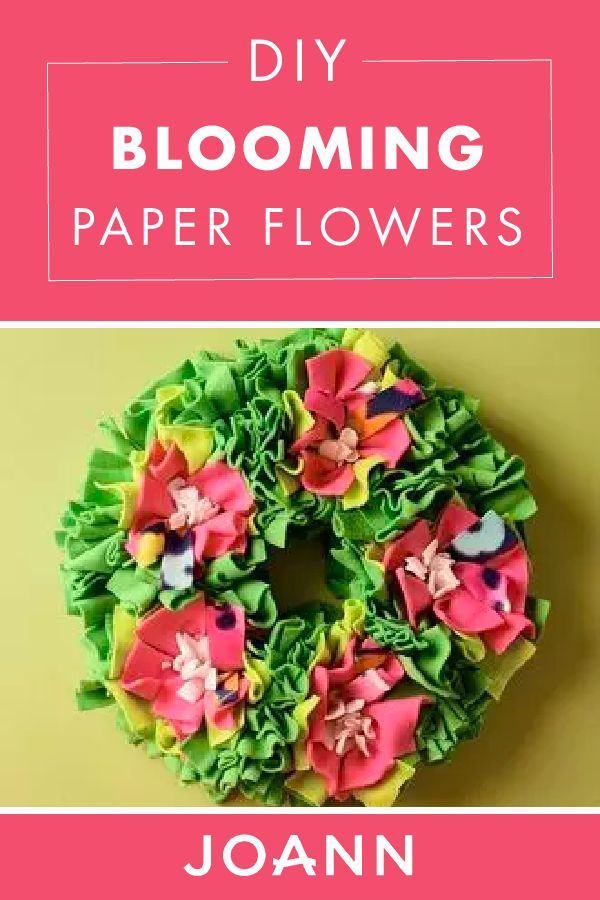 The finishing touch to your home? This DIY Blooming Paper Flowers craft! Some simple craft supplies and instructions from JOANN will help you create this cute floral decor in just a few hours.