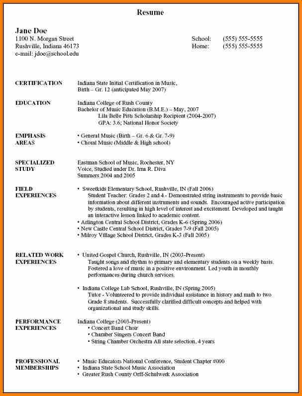 Gpa On Resume Example - Examples of Resumes