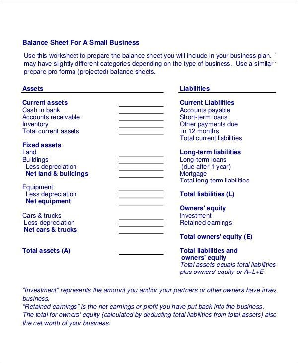 Free Printable Balance Sheet Template Top 25 Best Balance Sheet - simple balance sheet