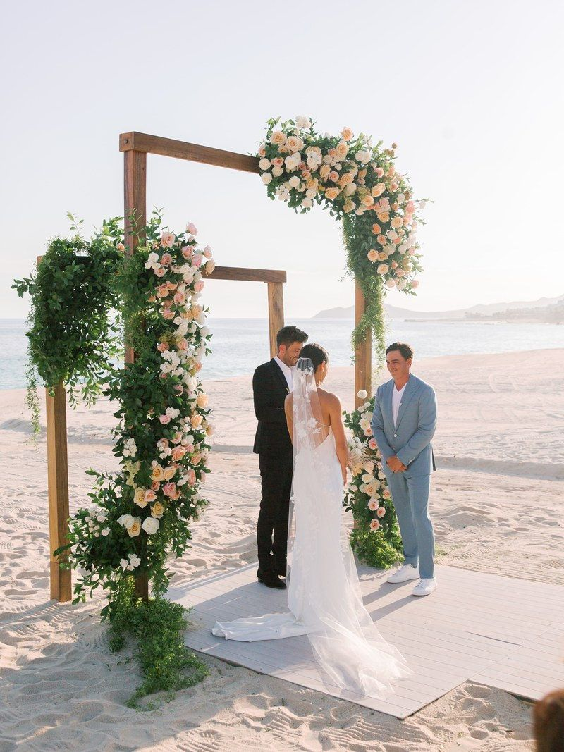 Pro Golfer Rickie Fowler and Pole Vaulter Allison Stokke's Romantic Destination Wedding in Mexico