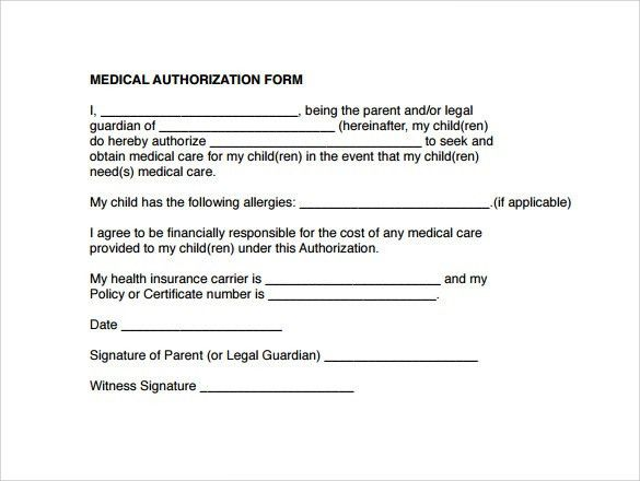Free Child Medical Consent Form  NodeCvresumePaasproviderCom