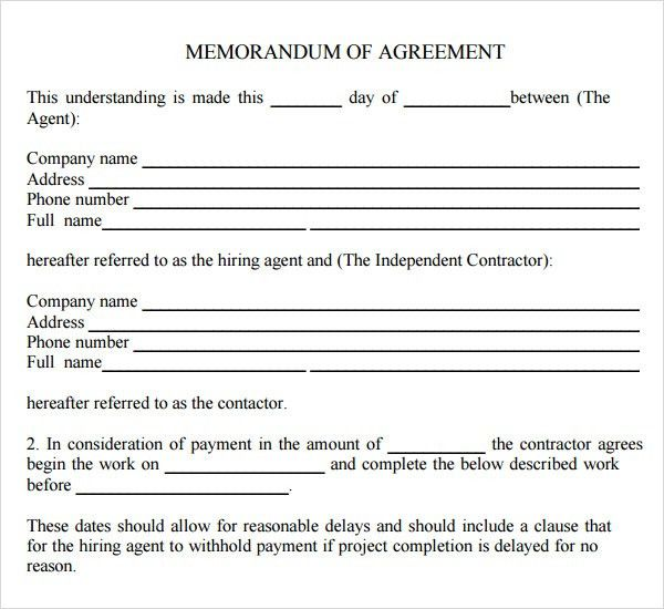 ... Agreement Between Two Parties Template Sample Contract Agreement   Operations  Contract Templates ...