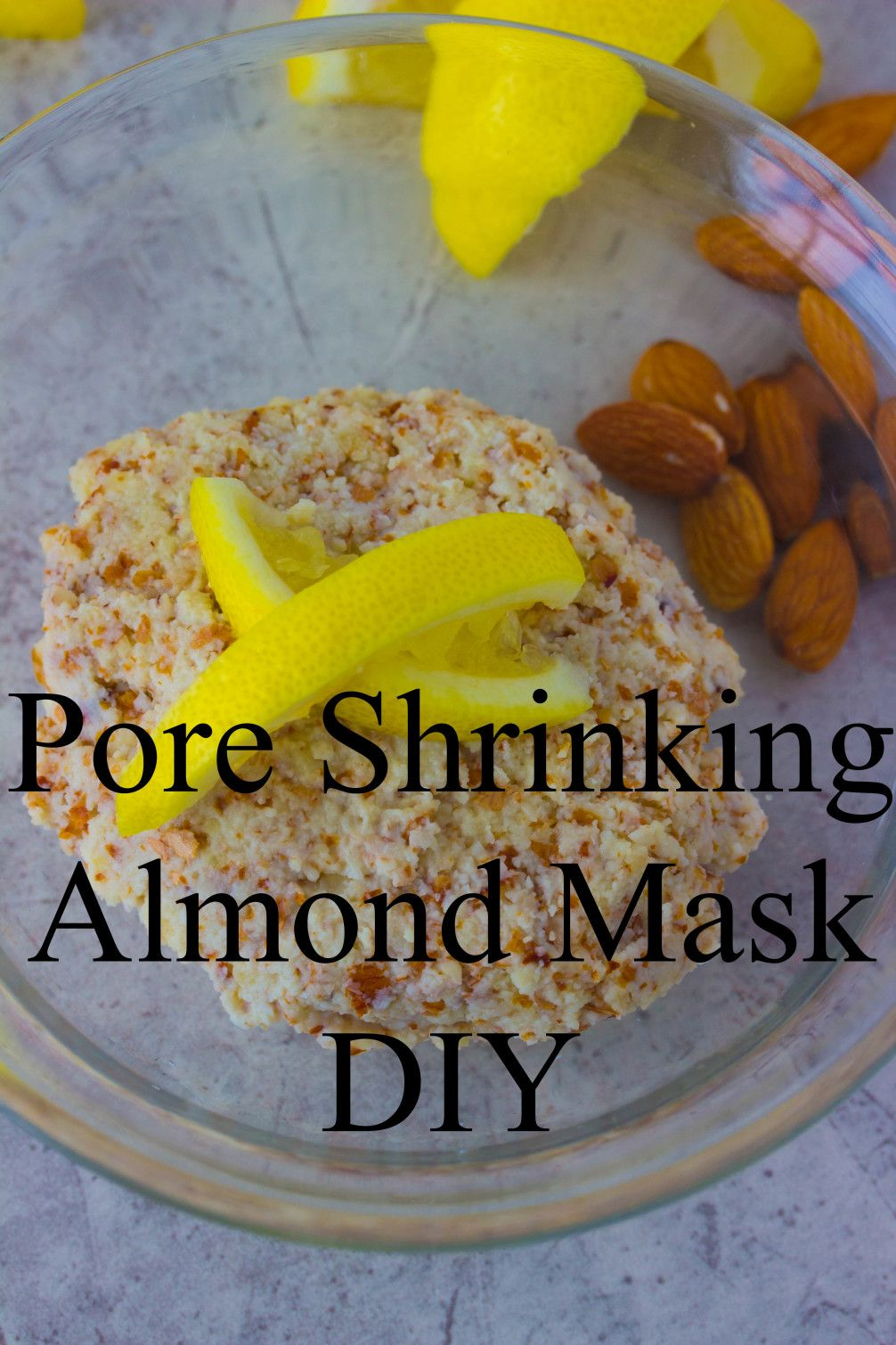 Shrink your pores naturally with a four ingredient Lemon Lavender Almond Mask