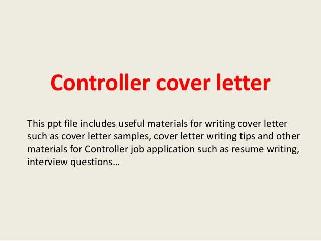 ... Cover Letter Controller Finance Controller Cover Letter Example   Rooms  Controller Cover Letter ...