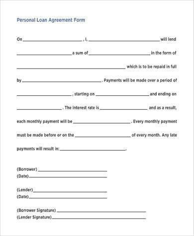 Simple Loan Agreement Form Download Simple Loan Agreement - monthly payment contract template