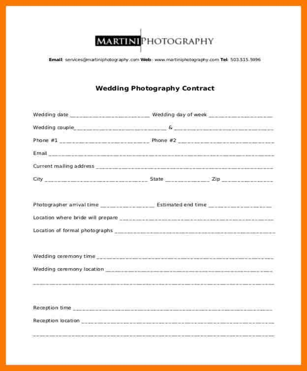 Photographer Contract Template 25 Best Photography Contract Ideas - dj contract template