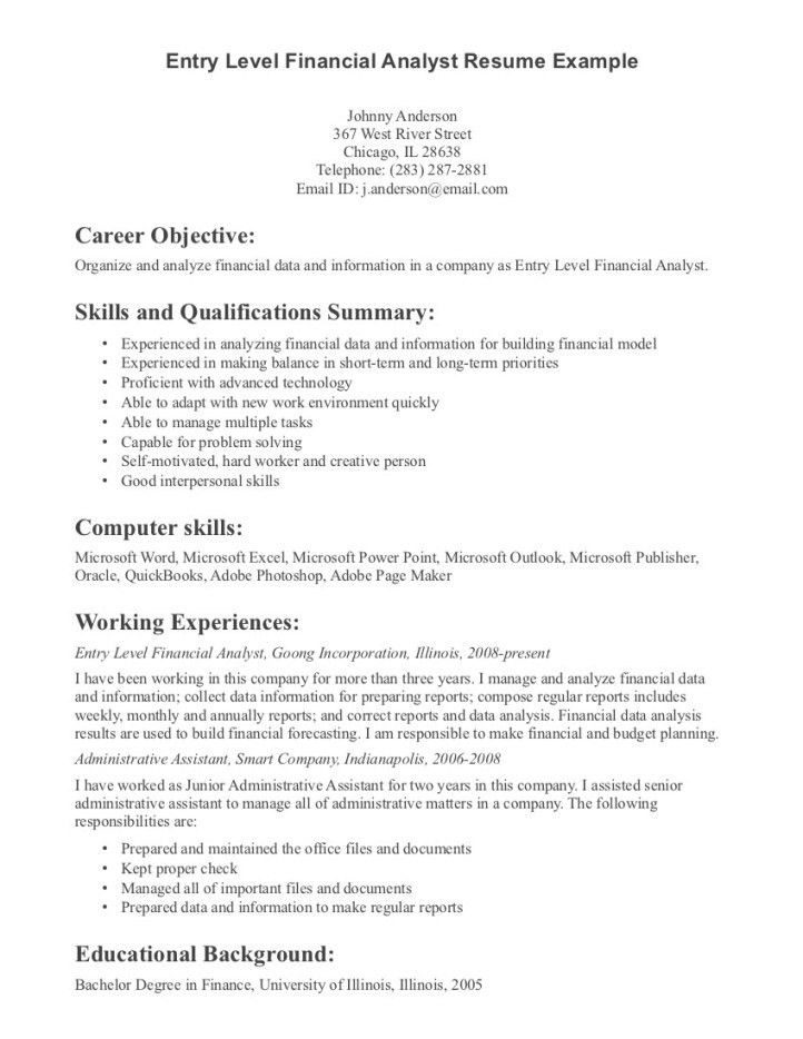 profile on resume example