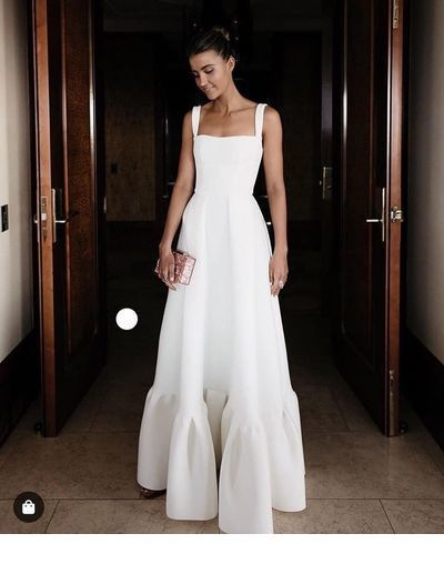 Glam long dress on white