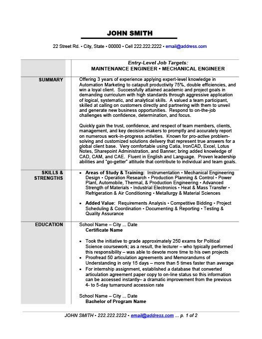 Maintenance Job Resume Resume Cv Cover Letter  Maintenance Job Resume