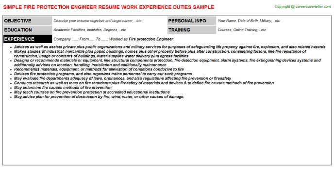 fire safety engineer resume node2003-cvresumepaasprovider