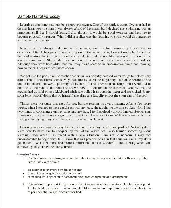 narrative essay dialogue example essay how to write a  22 essay examples