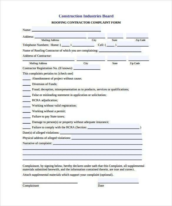 Roofing Contract Form 5 Roofing Contract Templates Free Pdf - roofing contract template