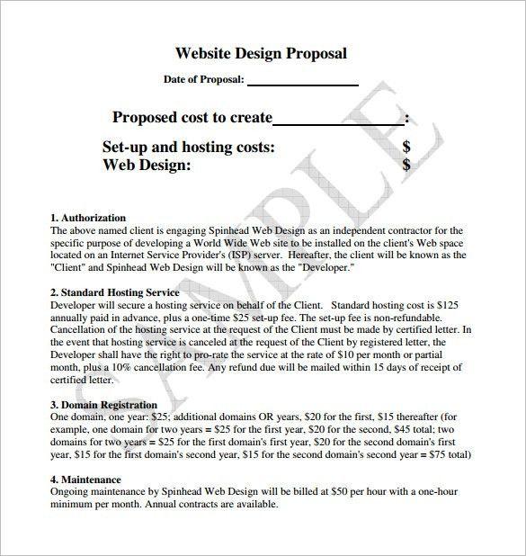 web design quotation sample