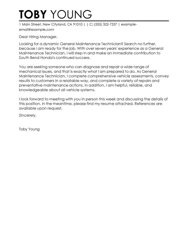... General Job Cover Letter General Cover Letter Template 11 Free   Lawn  Care Technician Cover Letter ...