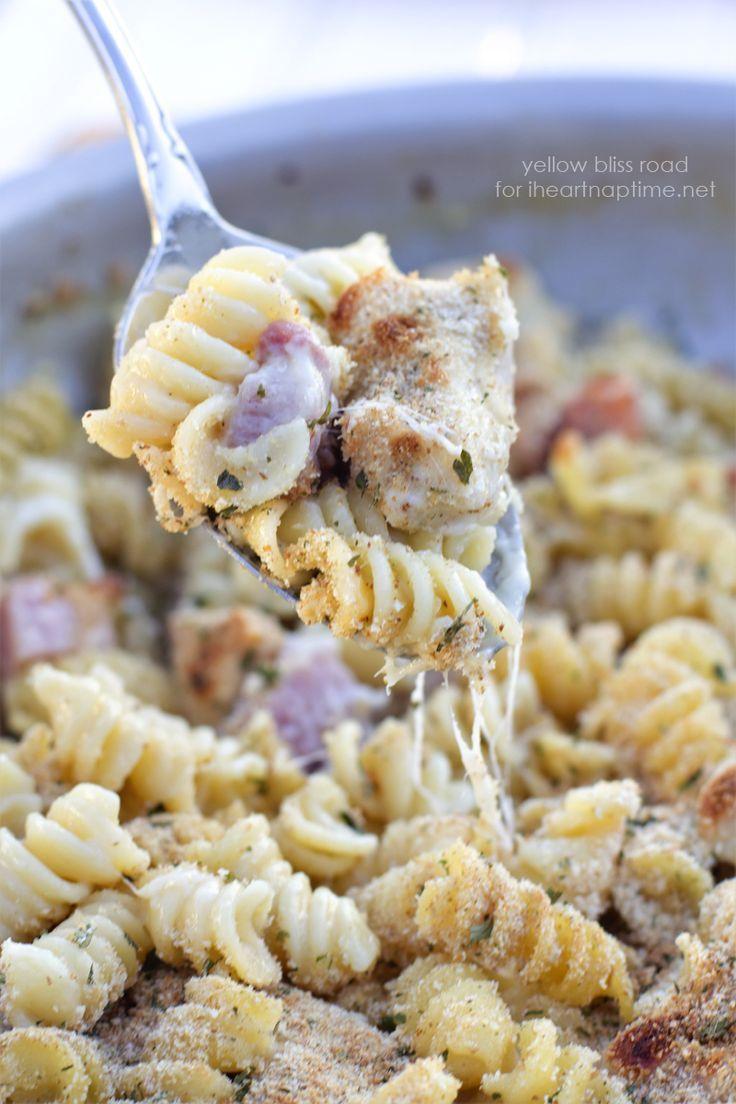 One Pan Chicken Cordon Bleu Pasta - I Heart Nap Time
